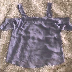 Lavender Off the shoulder shirt